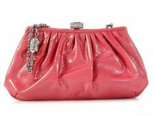 JUDITH LEIBER Pink Patent Leather New Bean Evening Bag Clutch ~ Retail $1495