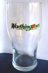 NEW BRITISH / UK - WORTHINGTON BITTER PINT BEER GLASS. (2009)