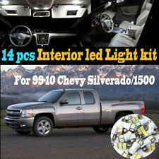 14Pcs White Interior LED Light Kit Package for 1999-2010 Chevy Silverado/1500/HD