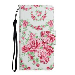 For Xiaomi Redmi 9A 9C 9T Note 8 Pro Case Painted Leather Wallet Flip TPU Cover