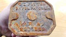 Vintage C. E. Potter Cast Iron Nut Cracker Sapulpa, Oklahoma BASE ONLY