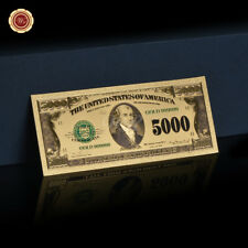 WR USA America $5000 Dollar Bank Note Dollar Gold Foil Banknote Collection Gift