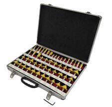 """ROUTER BITS SET - 50 piece 1/2"""" shank CARBIDE Aluminum Case NEW"""