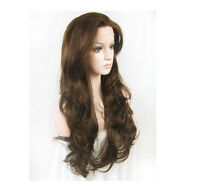 """14""""-26"""" Fashion Women Brown Wavy Heat Resistant Hair Synthetic Lace Front Wig"""