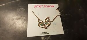 BETSEY JOHNSON  CUBIC ZIRCONIA FOX  PENDANT CHARM NECKLACE-NEW WITH TAGS