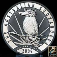 2009 Australian Kookaburra  2 oz .999 Silver with Issued Perth Mint Capsule BU