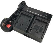 Dual Battery Charger for HITACHI DZ-BP07 DZ-BP14S DZ-BD DZ-GX DZ-HS DZ-MV MiniDV
