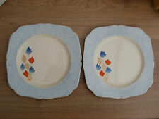 PAIR OF HAND PAINTED POTTERY PLATES BY H&K TUNSTALL