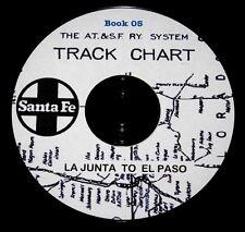 Atchison Topeka & Santa Fe 1950 La Junta to El Paso Track Chart PDF Pages DVD #5
