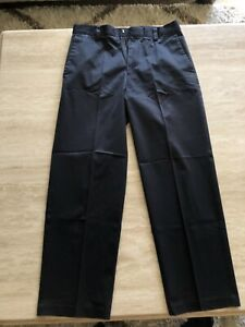 Dockers Mens Classic Fit 32x30 Navy Blue 100% Cotton Pants Jeans Pleated Front