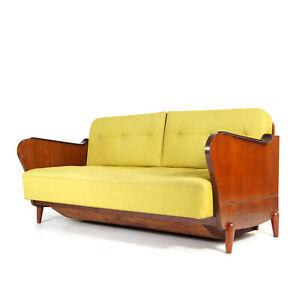 Retro Vintage Danish Design Teak 2 Seat Daybed Sofa Bed Studio Couch 50s 60s