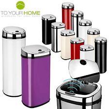Dihl Round Rectangle Automatic Sensor Bin Chrome Lid All Sizes & Colours