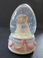 Lefton Bunny Figurine ~ Musical Water Globe ~ Easter Parade (W-1)