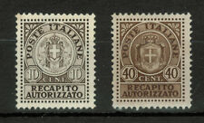 Italy 1930's Authorized Delivery Recapito Autorizzato 10 & 40 Cent Stamps #4248