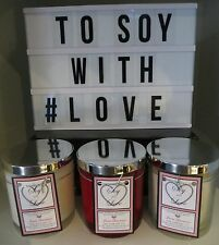 1 X Triple Scented Soy Candle - Medium - weighs approx 450gm - COURIER DELIVERY