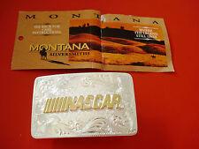 Nascar Montana Silversmiths Belt Buckle