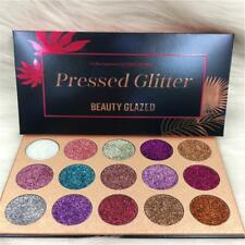 Diamond Glitter Rainbow Eyeshadow Makeup Cosmetic Palette 15 Color BY #R