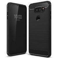 LG V30 Premium Carbon Fibre TPU Gel Bumper Shock Case Cover Ultra Slim Protect