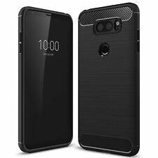 LG V30 Premium Carbon Fibre TPU Gel Bumper Shock Case Cover Ultra Slim Protect