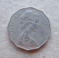 AUSTRALIAN DECIMAL....1969...50 CENT COIN....COAT OF ARMS