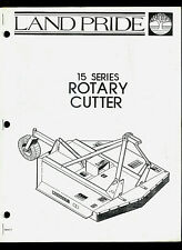 Land Pride 15 Series Rotary Cutter Original Factory Parts List Amp Owners Manual