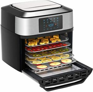 10-in-1 Air Fryer, 20 Quart Air Fryer Toaster Oven Combo, 1800w with Rotisserie
