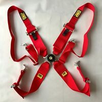 Universal Red 4 Point Camlock Quick Release Car Seat Belt Harness For OMP Racing