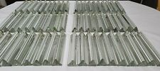 "Vtg Murano Venini Crystal Glass Prism 3 Sided 7"" Chandelier Tri Lobe Set of 10"