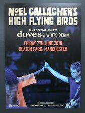 Noel Gallagher's High Flying Birds live 2019 promo FLYER Heaton Park Manchester