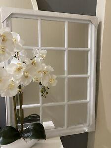 Hampton White Mirror 77x55cm , Hampton Mirror White
