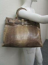 FURLA MADE IN ITALY Snakeskin Leather Large Shopper Tote Handbag