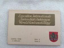 BELGIQUE ANCIEN CARNET COMPLET DE 10 CPA EXPOSITION INTERNATIONALE ANVERS 1930