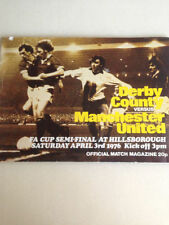 Derby County Away Team Final Football Programmes