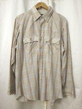 Levi's Regular Fit Light Blue Brown Plaid Western Snap Shirts L/S Men's Sz XL