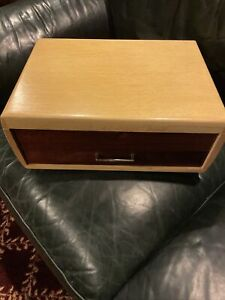 Vintage Rare Community Oneida Blonde Flatware Silverware CHEST BOX w/ Drawer EUC