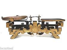 superbe balance de boucherie 1900 décorée - métier