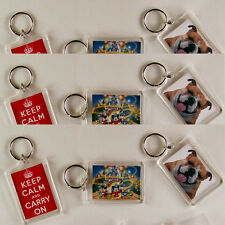 Personalised KEY RING-ANY image/text GREAT GIFT! LARGE!