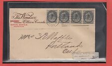 1901 4 x half cent numeral issue early machine cancel CANADA cover