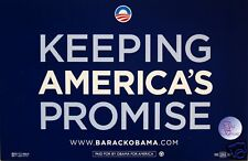 Official  OBAMA Keeping America's Promise Rally Sign
