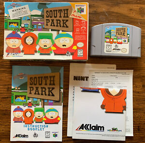 South Park (Nintendo 64, 1998) Tested N64 Authentic w/Manual and Poster