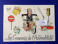 Postcard France The Enemy of the Automobile Cartoon Humour
