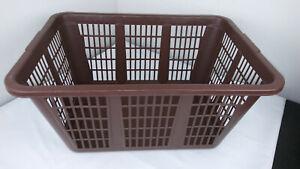 Vintage Rubbermaid Laundry Basket - Brown No.2965 Rectangular Retro