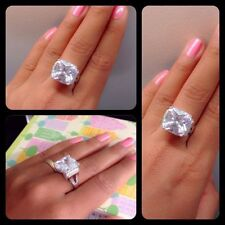 Sterling Silver Diamond Solitaire with Accents Engagement Rings
