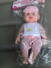 "Cute Baby MAYMAY GIRL Doll 10"" Inch Blue Eyes, 6 Sounds Talking Toy."