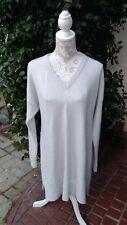 "Valentina Kova ""Marcus"" 100% Cashmere Long Sleeve Sweater Dress Tunic SZ M $1895"