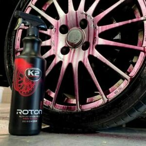 K2 ROTON PRO 1L BLOOD ALLOY WHEEL CAR PAINT CLEANER IRON REMOVER CONTAMINANT