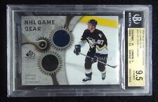 2005-06 SIDNEY CROSBY SP GAME USED GAME GEAR #34/100 2 COLORS BGS 9.5 POP 5