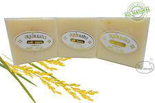 3 BARS RICE MILK NATURAL SOAP SPA SMOOTH AND ANTI-AGING SKIN WITH COLLAGEN 60 G.