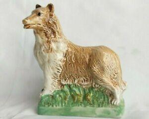 Vintage 1972 ceramic Garnier Liquers Container Collie Dog