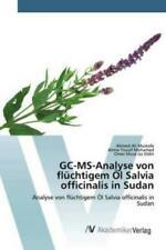 GC-MS-Analyse von flüchtigem Öl Salvia officinalis in Sudan Analyse von f 5948